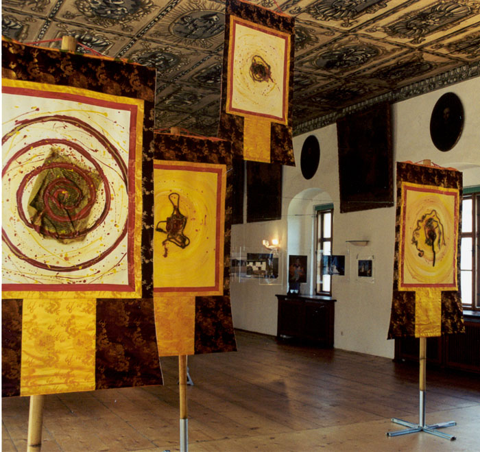 Spiral Thangkas im Kloster Traunkirchen