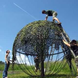 Aufbau der Laubkugel