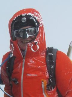 Christine Eberl am Elbrus-Gipfel